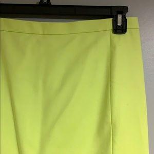 Jcrew Neon Pencil Skirt